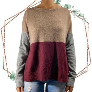Anthro Addie color block sweater size M